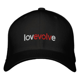 Love Evolve Embroidered Wool Cap Baseball Cap
