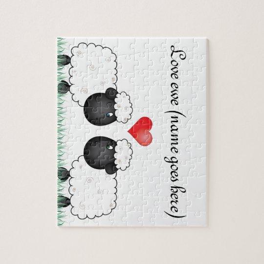 Love ewe sheep jigsaw puzzle