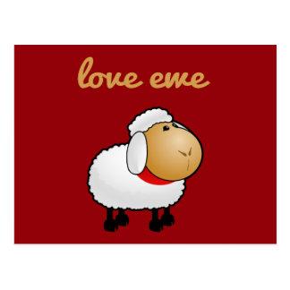 Love Ewe (you) Postcard