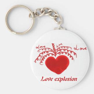 Love explosion keychain