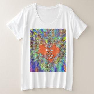 Love Explosion plus size t-shirt