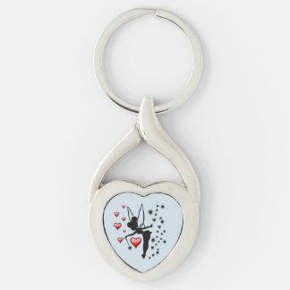 Love Fairies Twisted Heart Keychain
