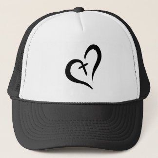 LOVE + FAITH = BLESSED TRUCKER HAT