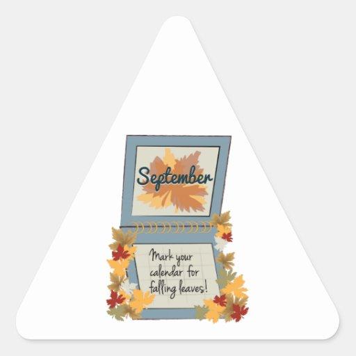 Love Fall Triangle Sticker
