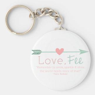 Love Fee Basic Round Button Keychain