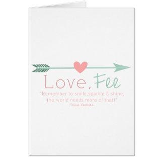 Love Fee Greeting Card
