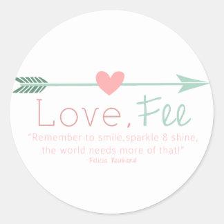Love Fee Round Sticker