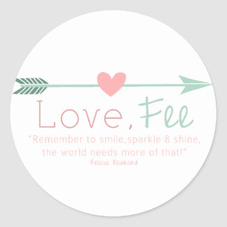 Love Fee Classic Round Sticker