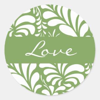 Love Fern Flora Envelope Sticker Seal