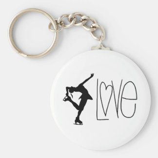 """Love Figure Skating"" Key Chain"
