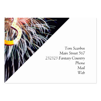 love fireworks business card template