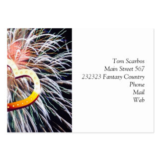 love fireworks business cards