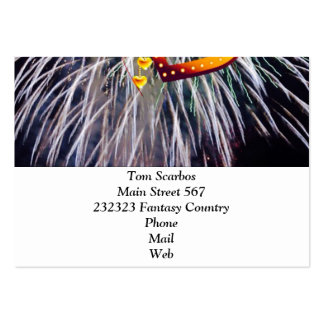 love fireworks business card templates