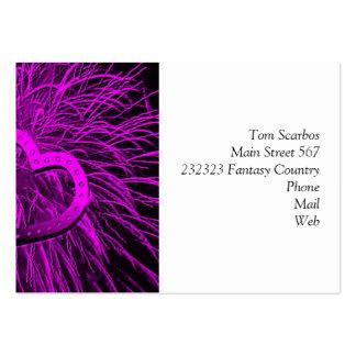 love fireworks purple business card template