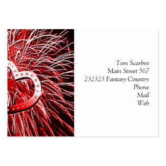 Love Fireworks,red Business Card Template