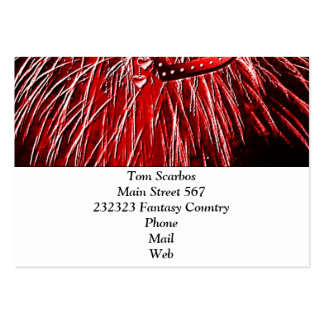 Love Fireworks,red Business Card