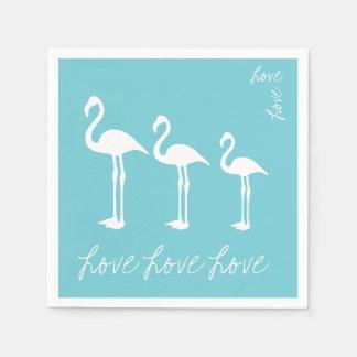 Love Flamingo Paper Napkin