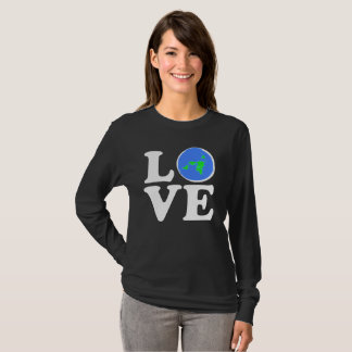 LOVE - Flat Earth Designs Azimuthal Projection T-Shirt
