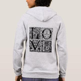 Love Fleece Zip Hoodie