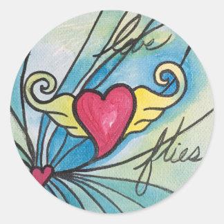 Love Flies Sticker