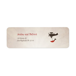 LOVE FLIGHT Adress Label Return Address Label