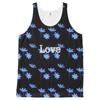 love floral All-Over-Print tank top
