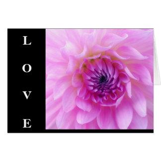 Love Floral Dahlia Greeting Card