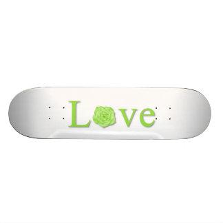 Love Flower Green Custom Skate Board