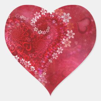 Love Flower Heart Heart Sticker
