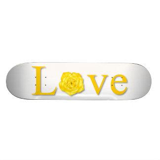 Love Flower Yellow Skate Board Deck