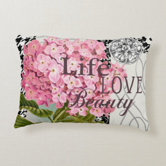 Love Flowers Beautiful Pattern Accent Pillow