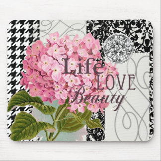 Love Flowers Beautiful Pattern Mouse Pad