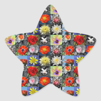 Love Flowers Star Sticker
