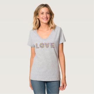 Love Flowers V-neck T-shirt