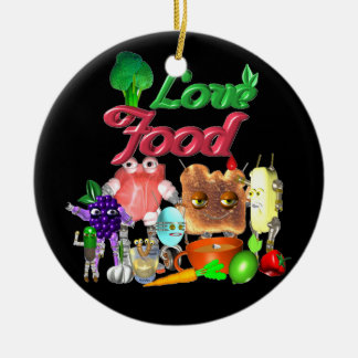 Love Food by Valxart.com Ceramic Ornament