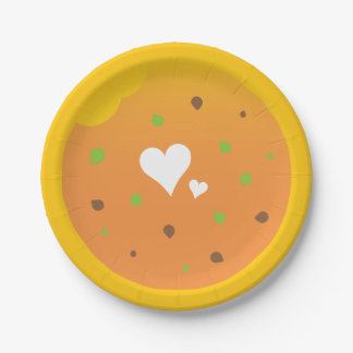 Love food easter party design paper plate