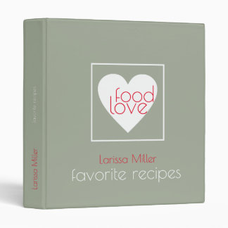 love food, favorite recipes, chef binder