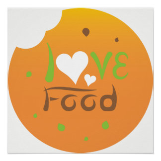 Love food poster design perfect poster