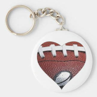 LOVE FOOTBALL BASIC ROUND BUTTON KEYCHAIN