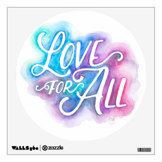 Love for All Watercolor Wall Decal
