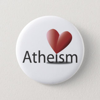 Love for atheism 2 inch round button