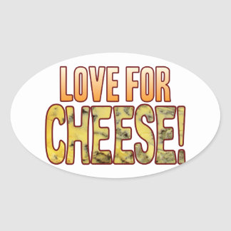 Love For Blue Cheese Oval Sticker