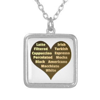 Love for Coffee Pendant Necklace