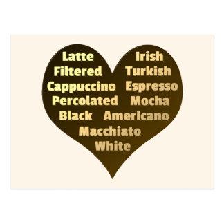 Love for Coffee Postcard
