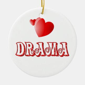 Love for Drama Ceramic Ornament