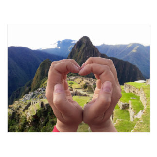 Love for Machu Picchu Peru Postcard