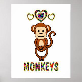 Love for Monkeys Print