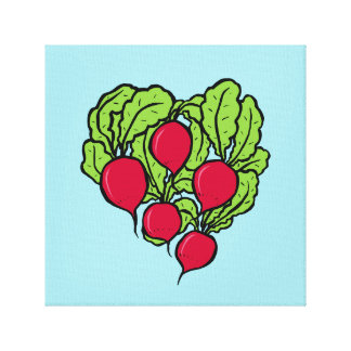 Love for Radishes Canvas Print