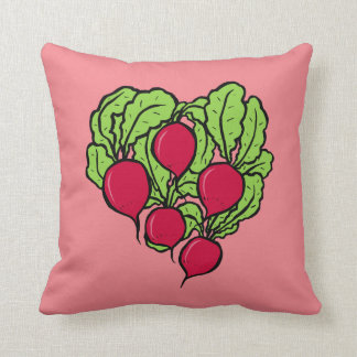 Love for Radishes Throw Pillow