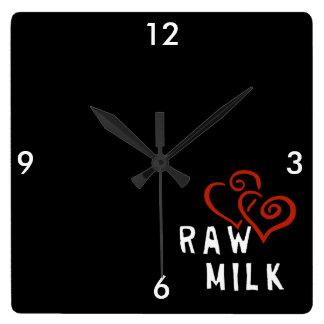 Love for Raw Milk Wall Clocks